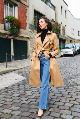 french girl jean outfit