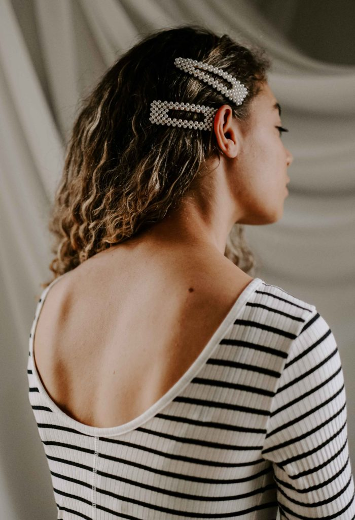 pearl clips in hair