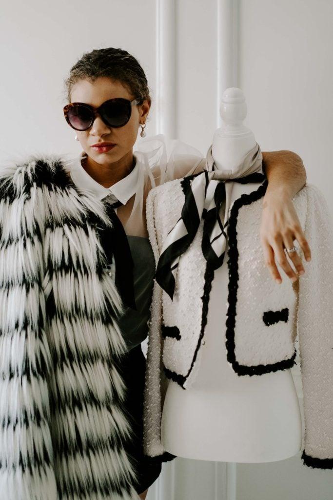 faux fur coat outfit