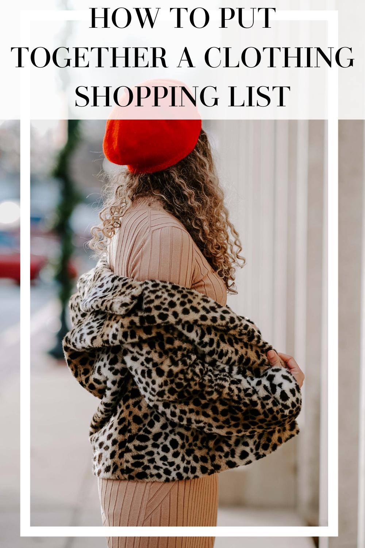 clothing shopping list