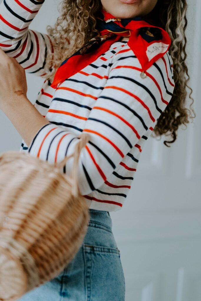 parisian summer outfit striped top