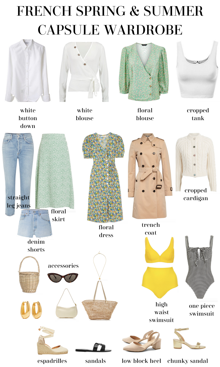 french spring and summer capsule wardrobe