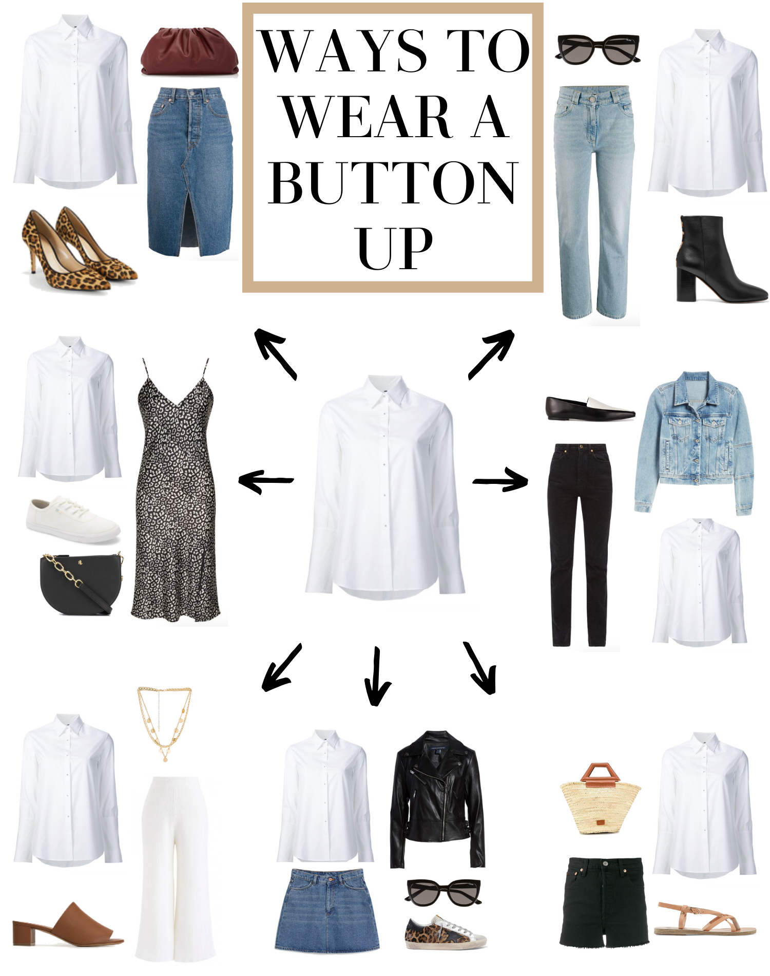 ways to wear a button up