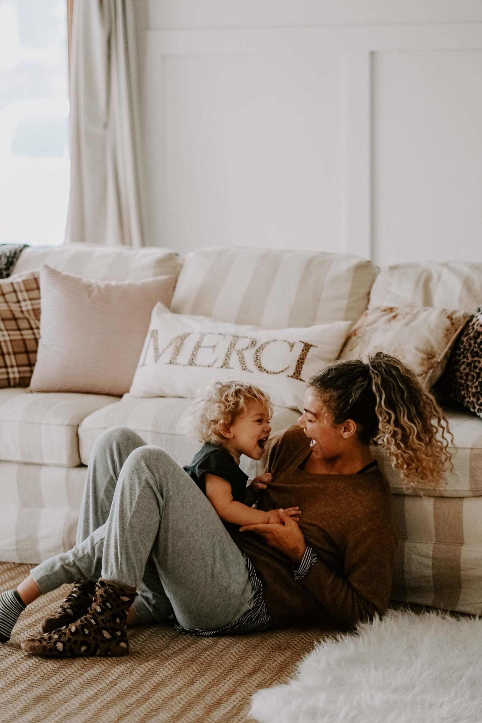 mother and son at home lifestyle improve time at home