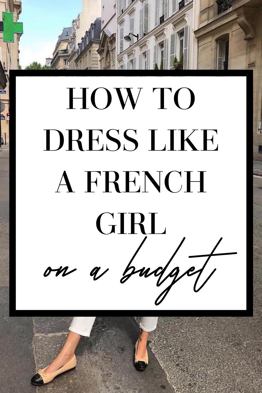 dress like a french girl on a budget