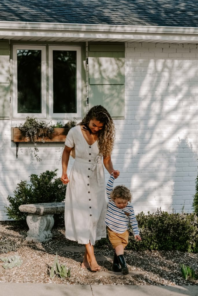 mother and son outdoor lifestyle photography