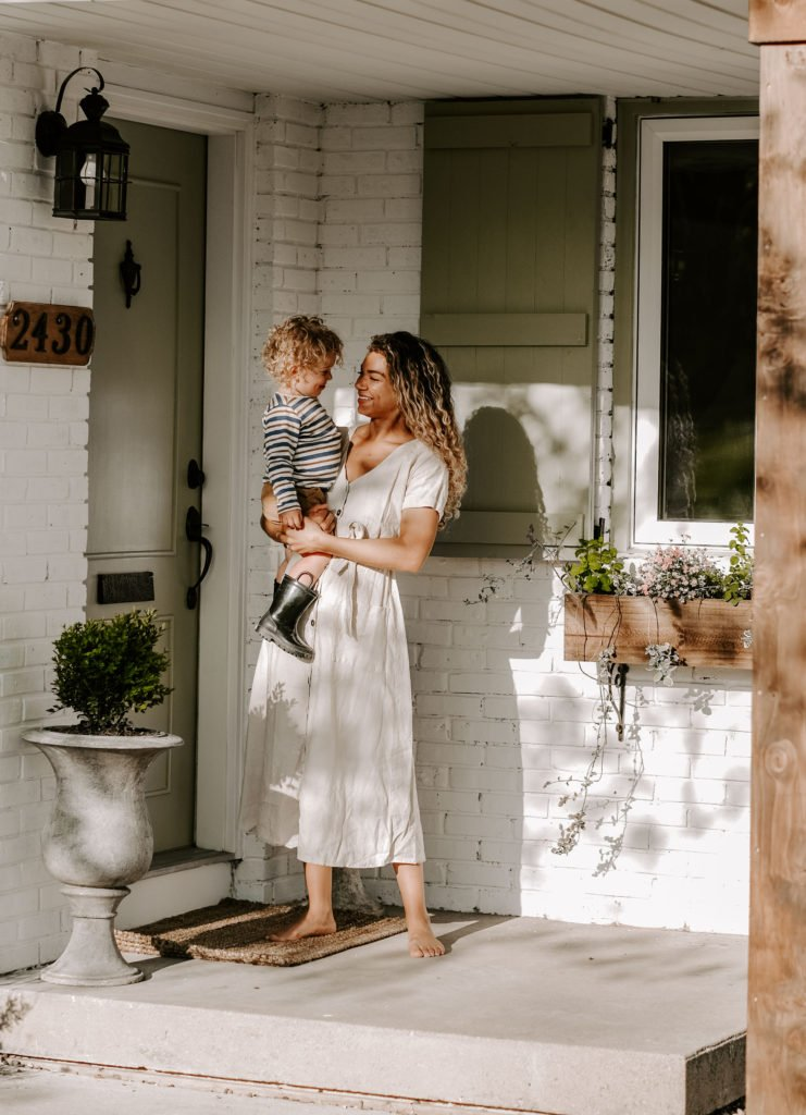 mother and son outdoor photos