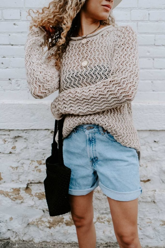 half tucked in sweater