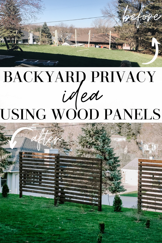 backyard privacy idea