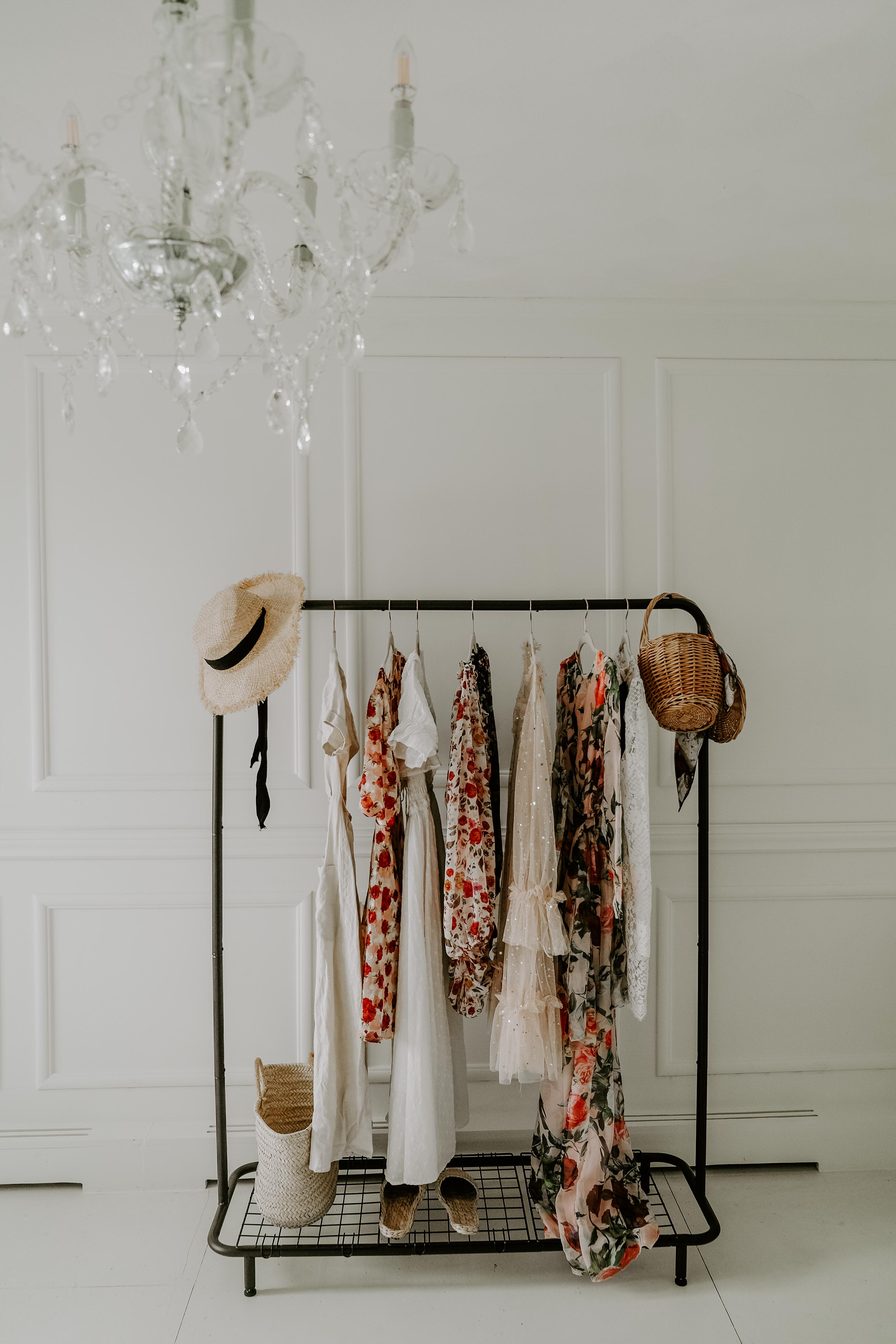 clothing rack in chic office