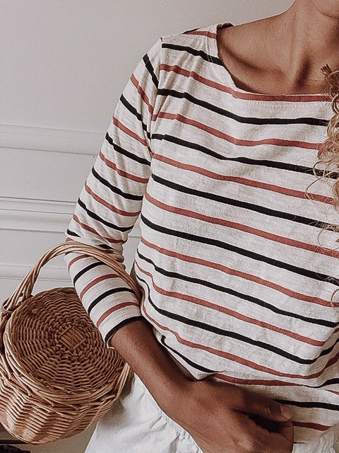 striped top outfit for summer