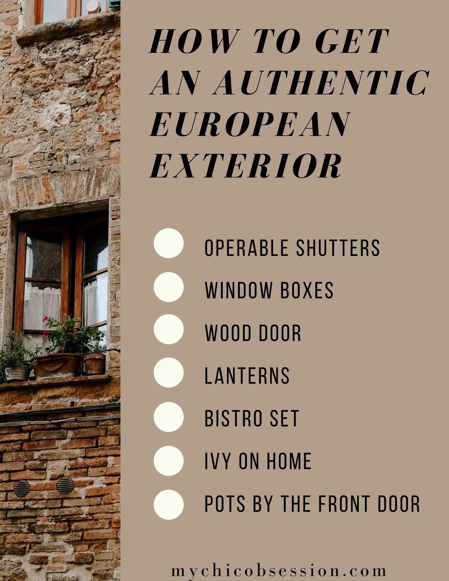 authentic european exterior