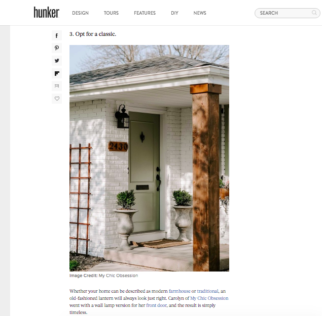 my chic obsession featured on hunker