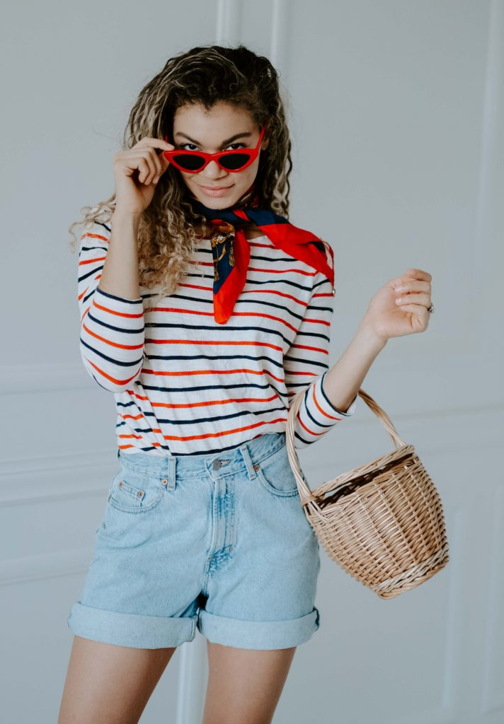 striped top outfit