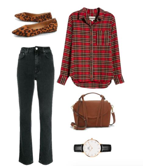 fall outfit plaid shirt