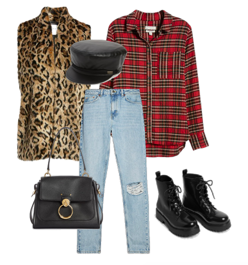 how to wear a plaid shirt for fall