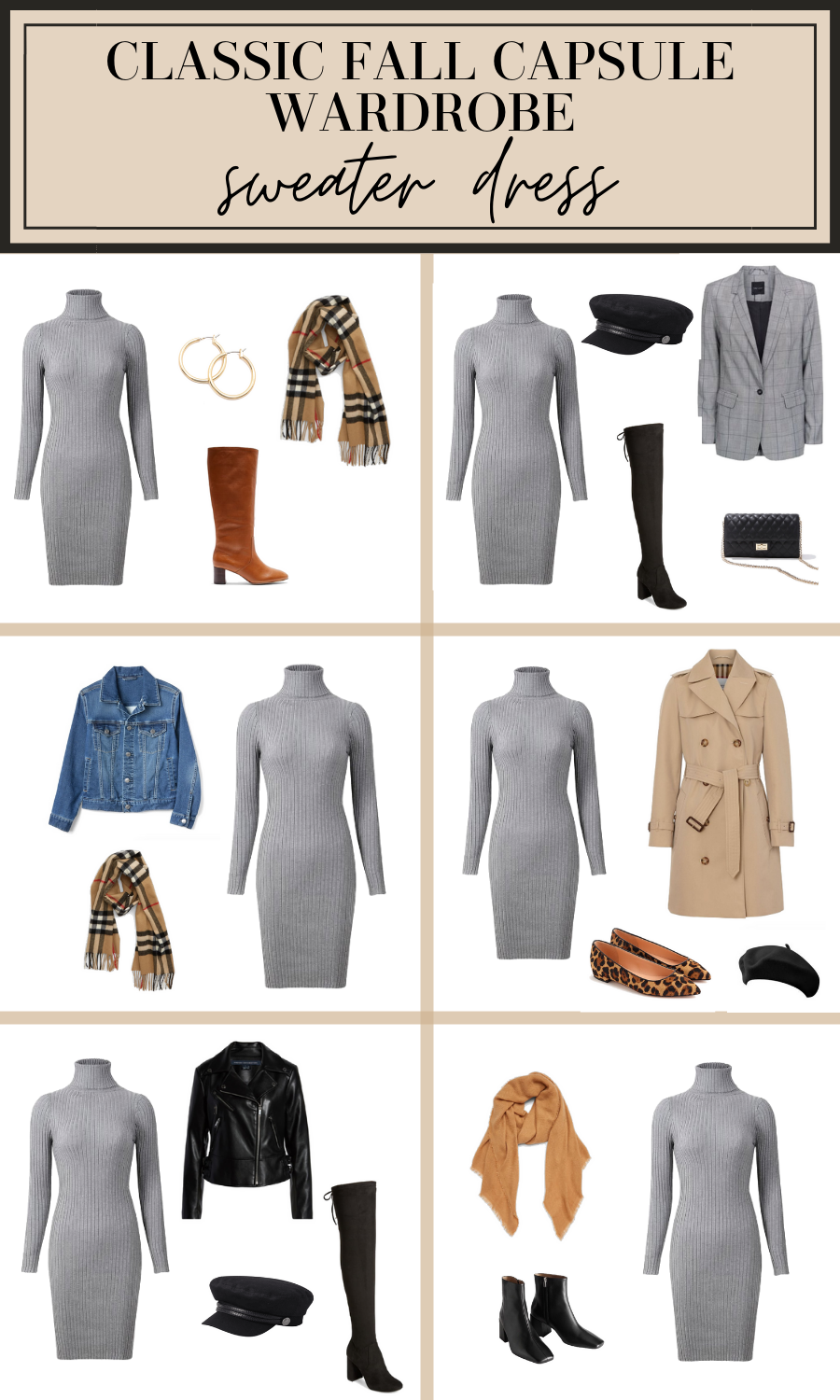 sweater dress outfit ideas for fall
