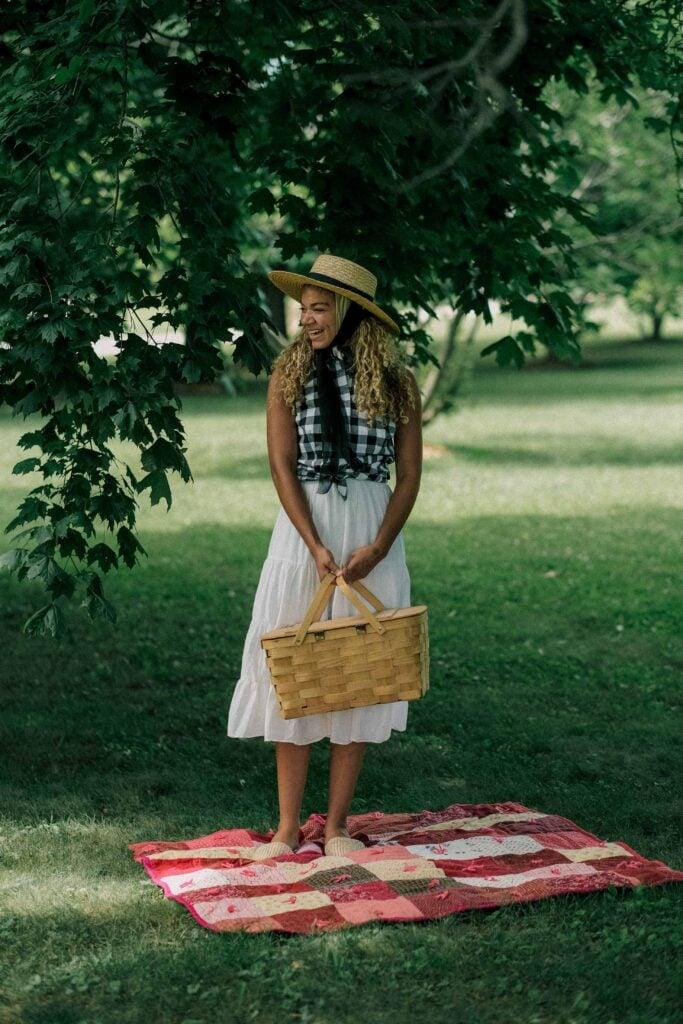 outdoor summer family picnic