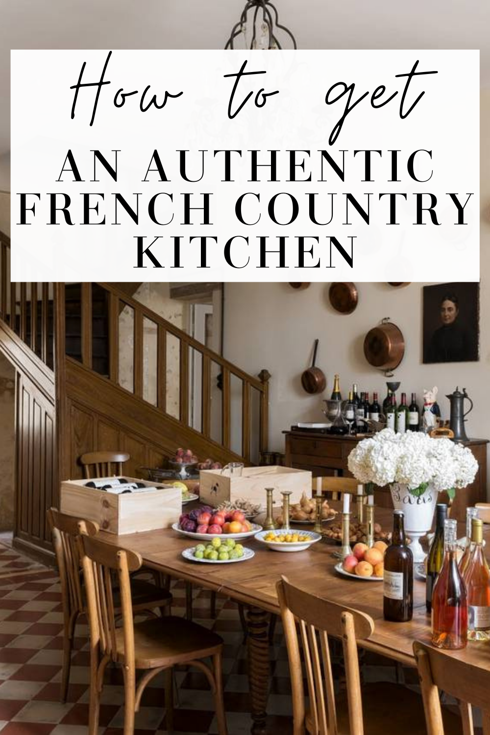 authentic french country kitchen