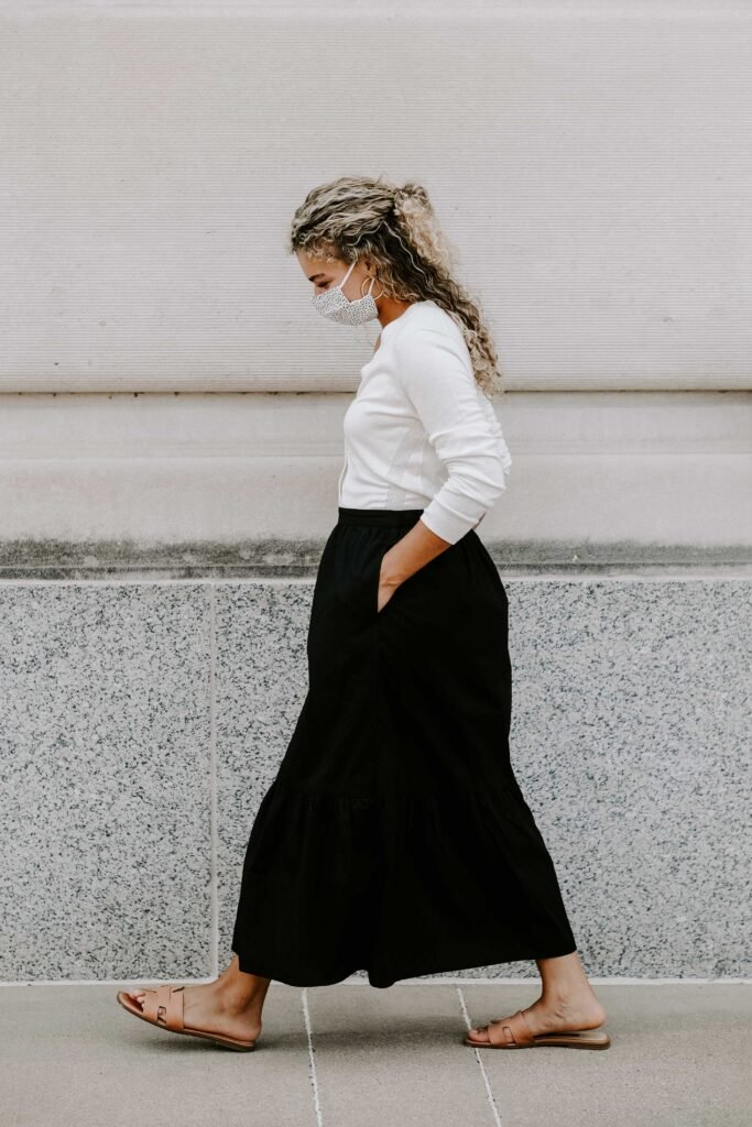 classic maxi skirt outfit