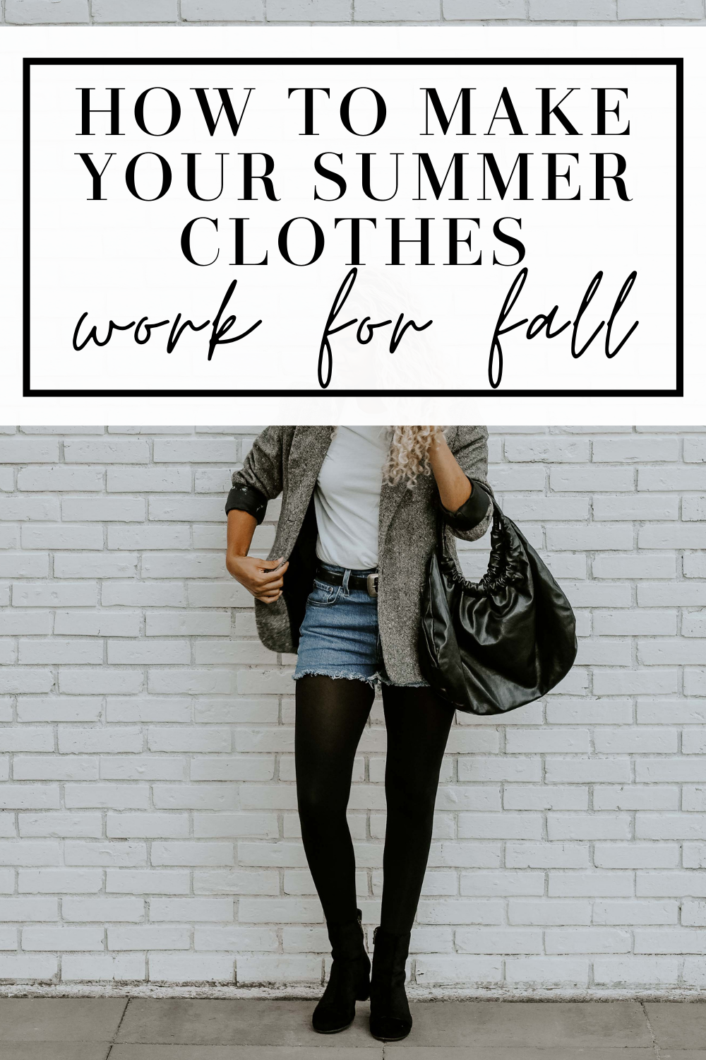 how to make summer clothes work for fall