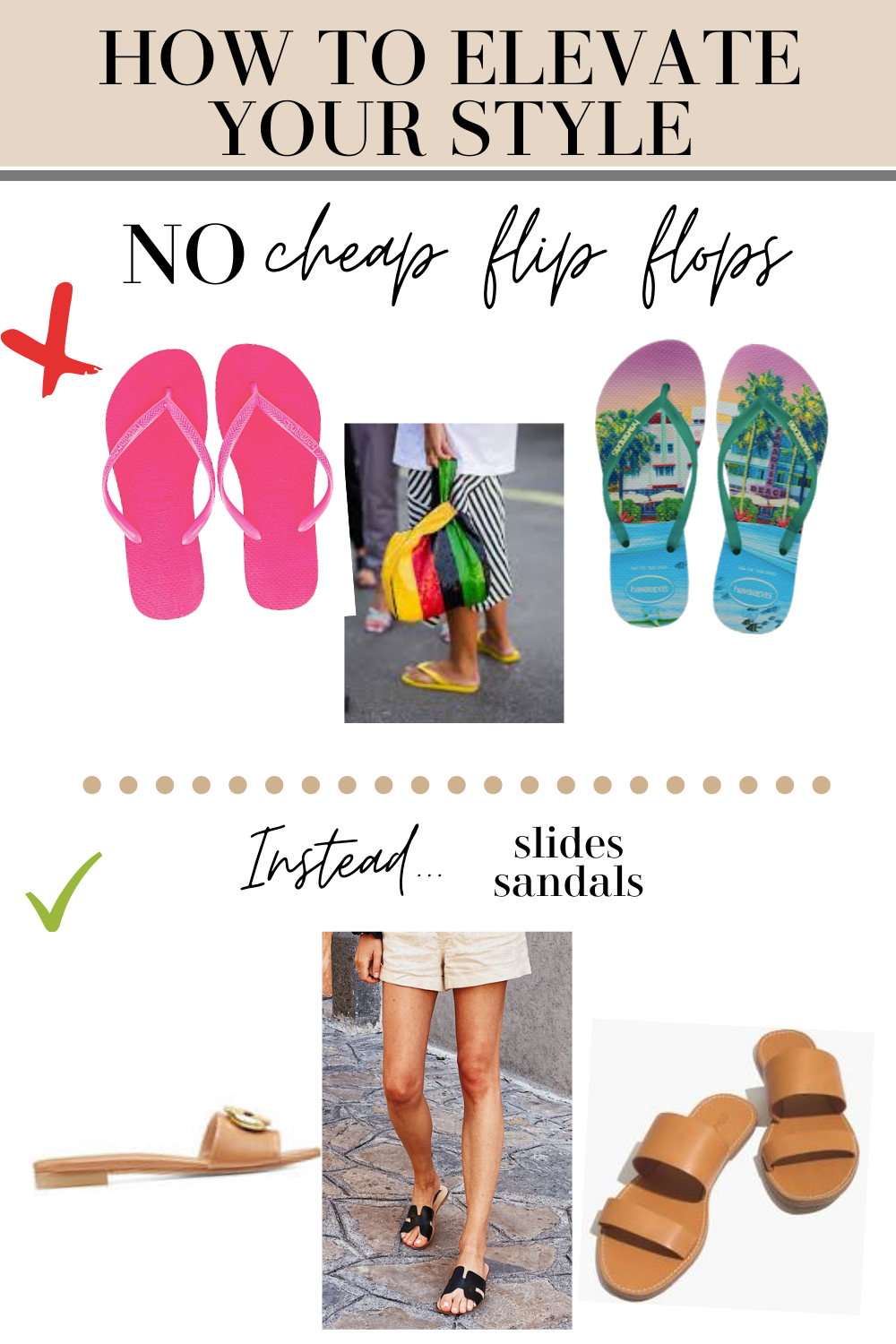 elevate your style with sandals