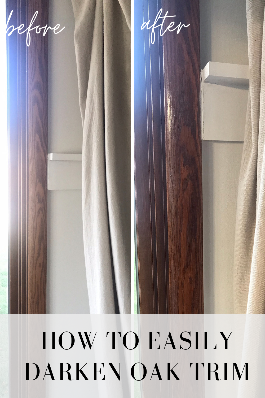 how to easily update oak trim