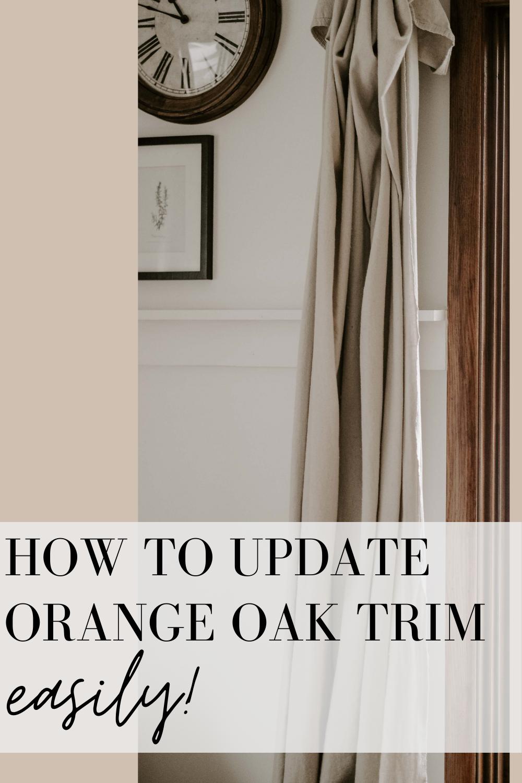 how to update oak trim