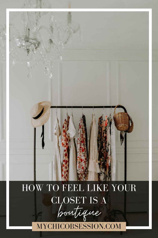 make your closet a boutique