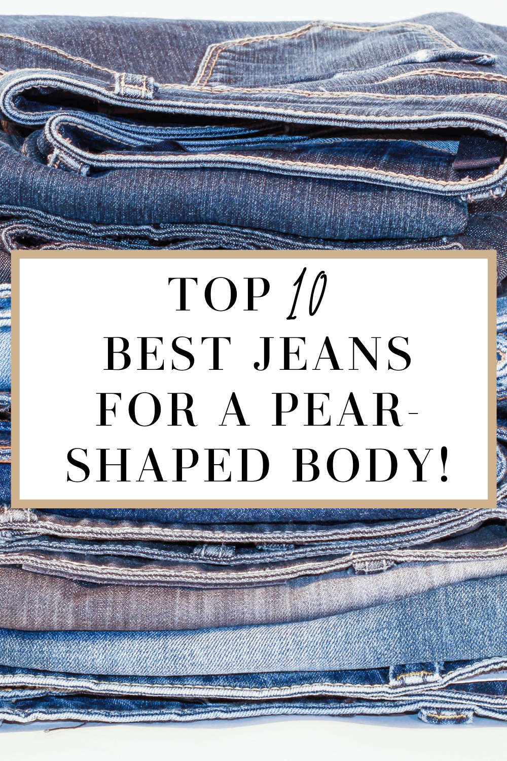 pear shaped body jeans
