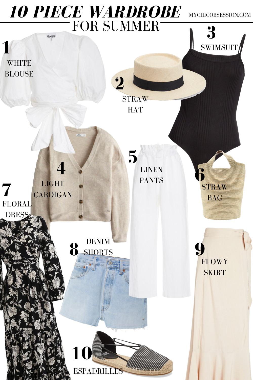 10 piece wardrobe for summer