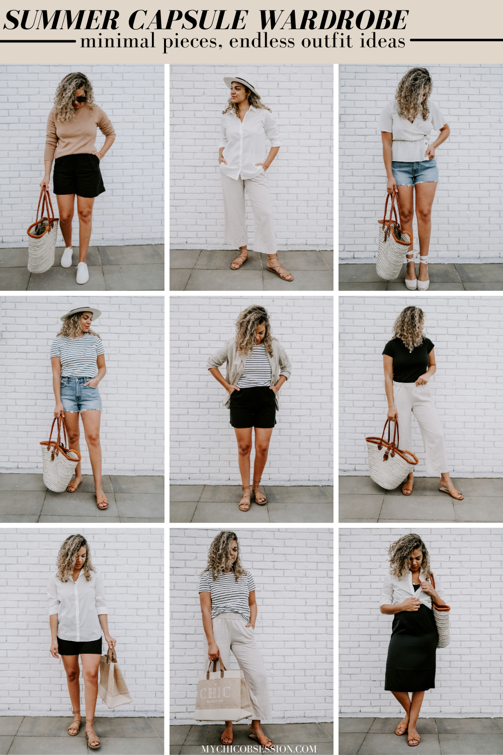 classic summer capsule outfits