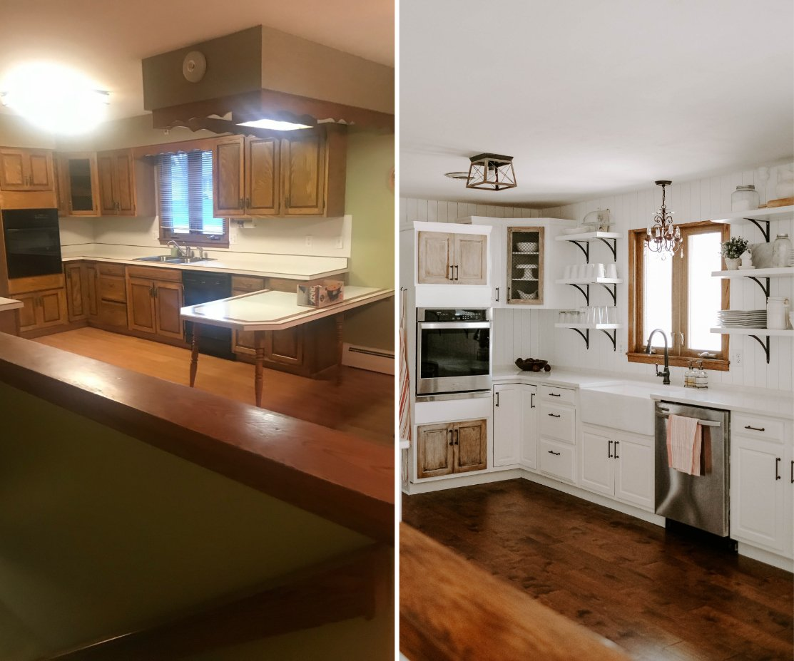 french country kitchen before and after