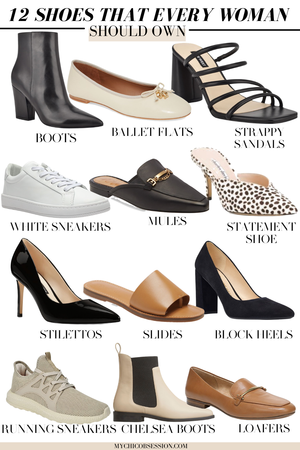 12 shoes every woman should own