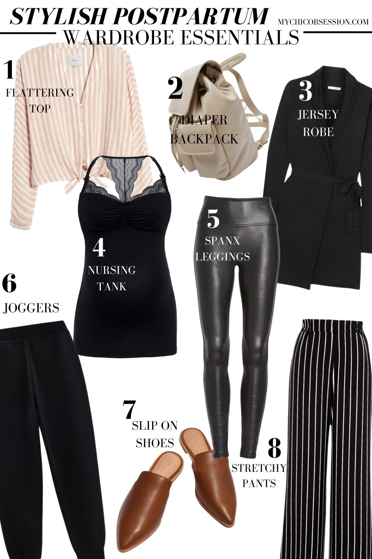 postpartum wardrobe essentials