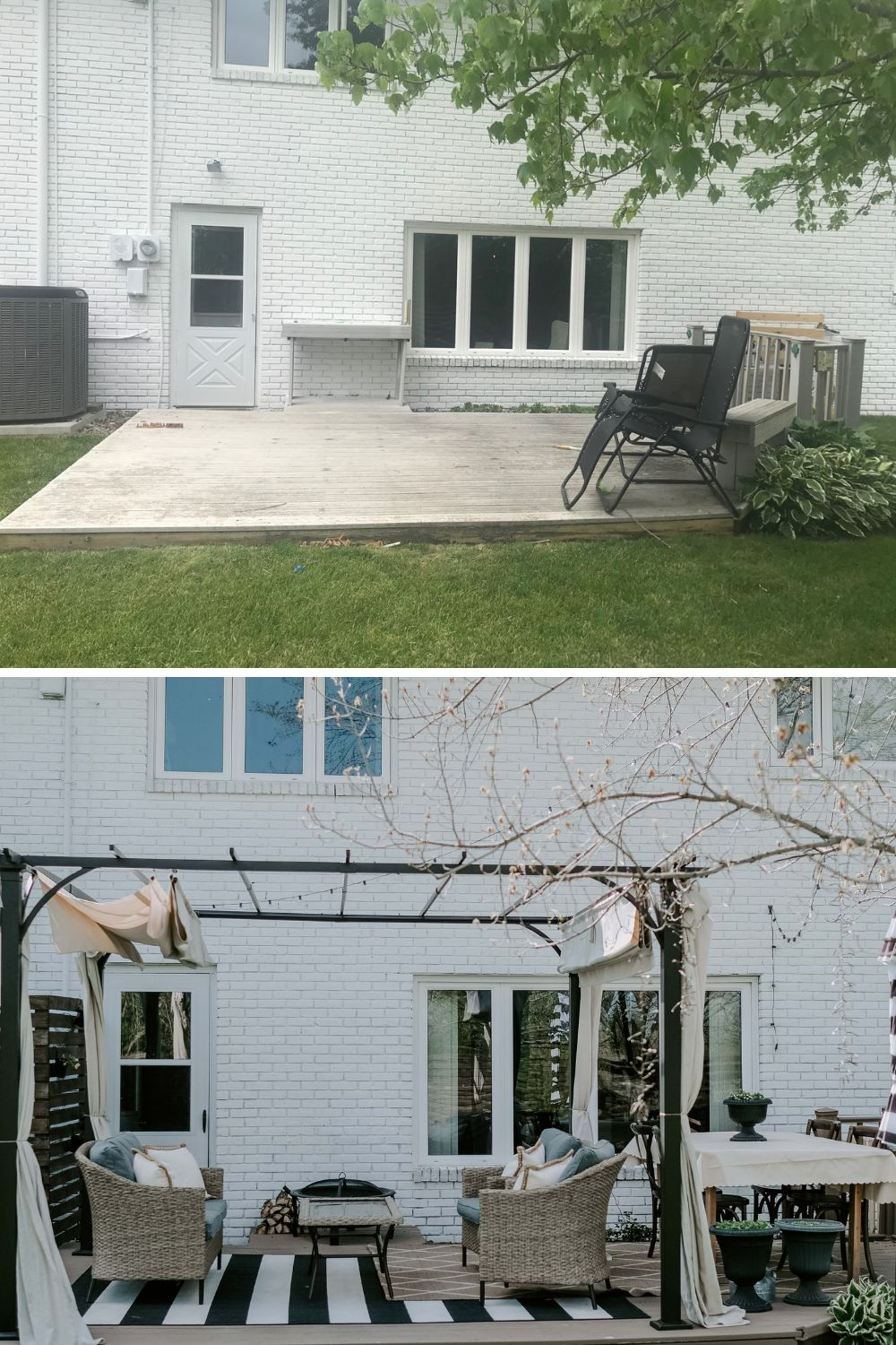 deck refresh before and after