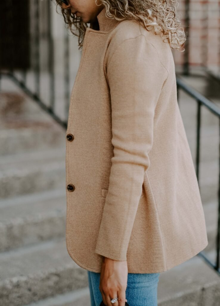 sweater blazer outfit
