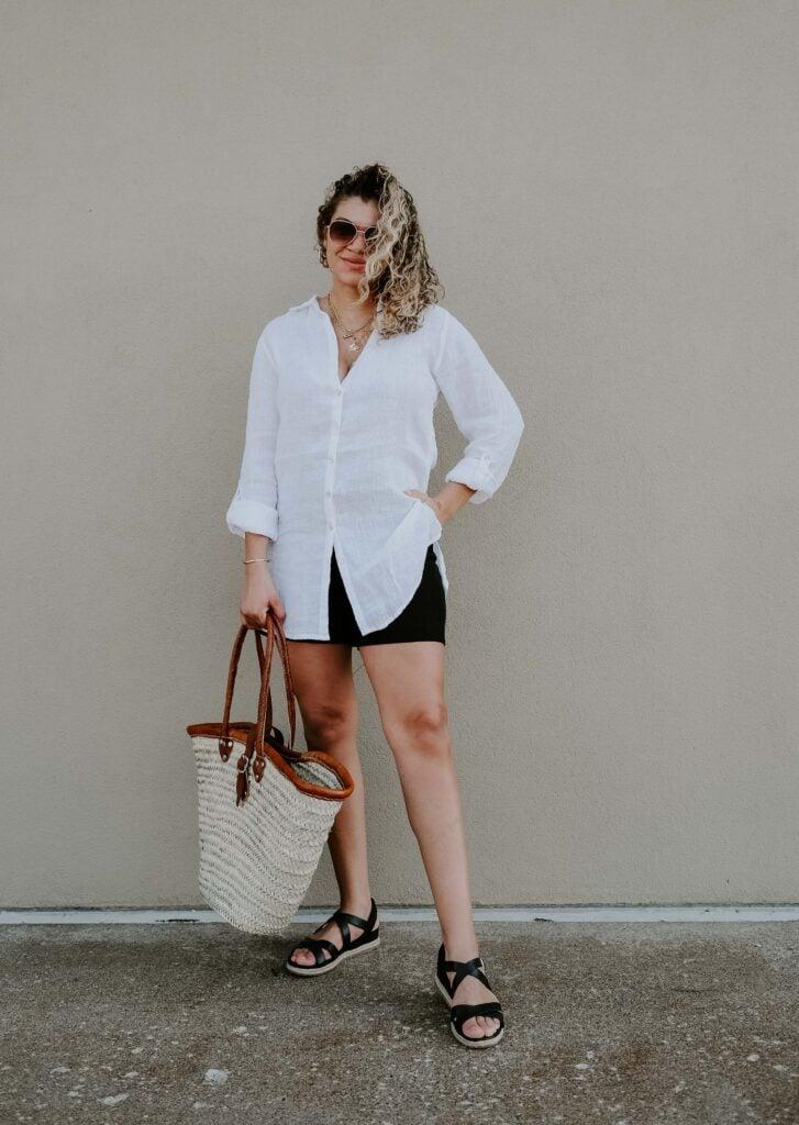white shirt for summer