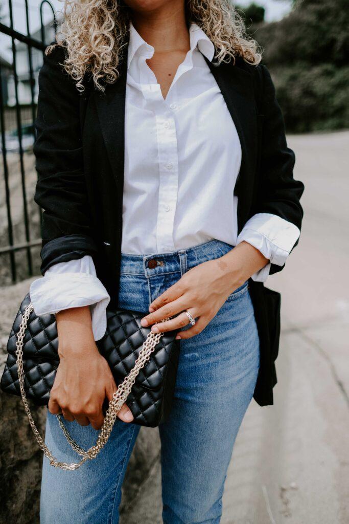 how to wear a black blazer