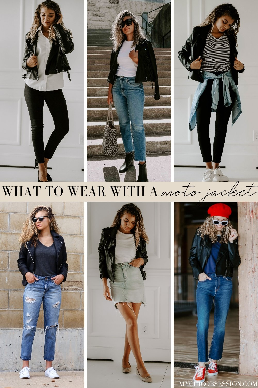 moto jacket outfits