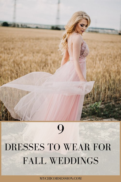Dresses to wear for fall weddings graphic