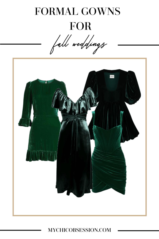 green jewel tone wedding guest dresses