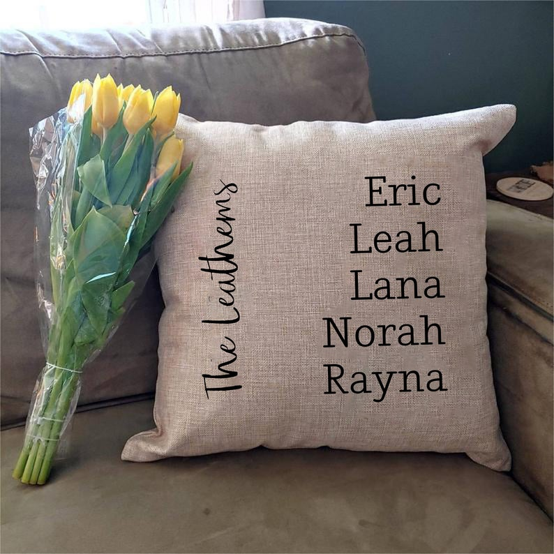 Thelifeteecoo custom pillow case. Personalised gift for women over 50