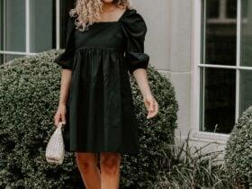 black dress in summer