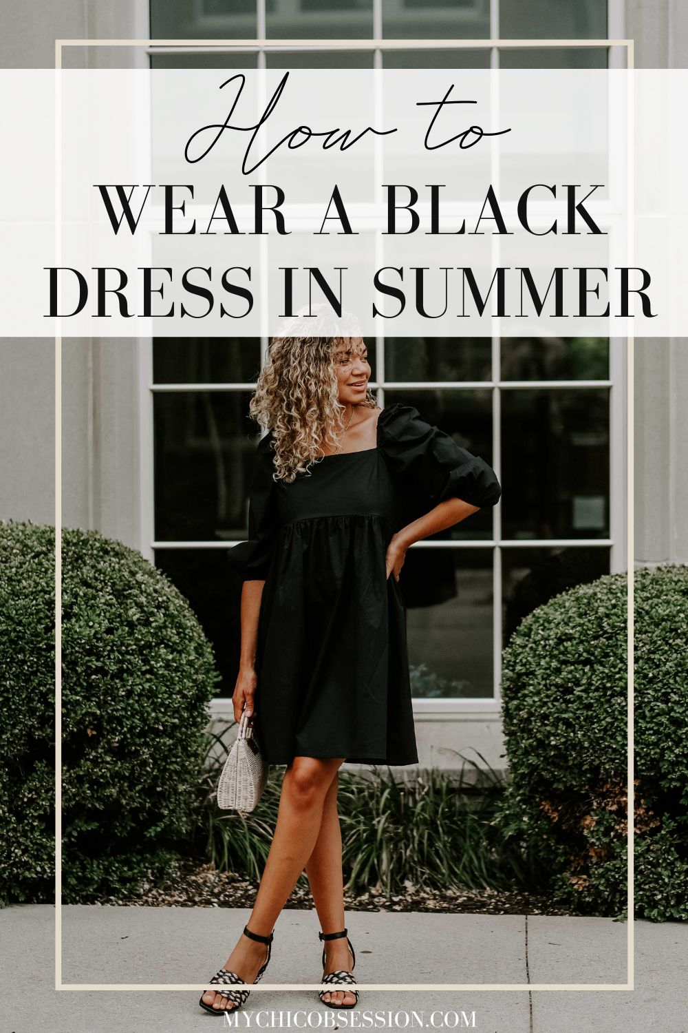 how to wear a black dress in summer