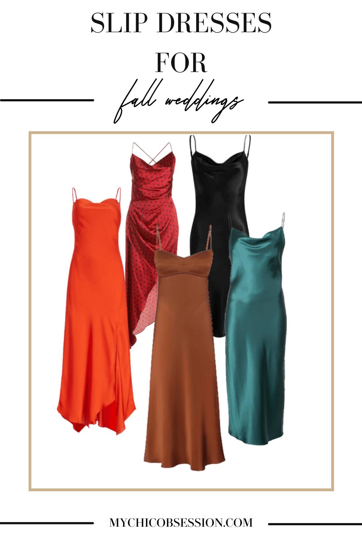 slip dresses for fall weddings