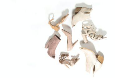 flatlay of women's dress shoes
