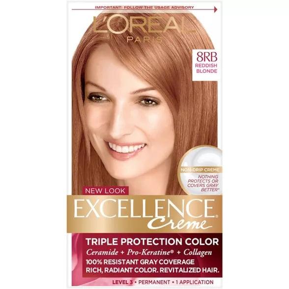 L'Oreal Paris Excellence Triple Protection Permanent Hair Color - 8RB Reddish blonde