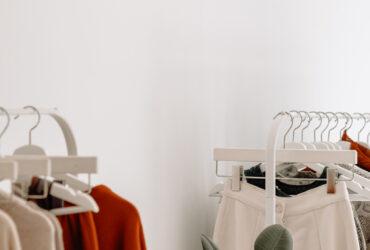 Sustainable fashion clothing rack