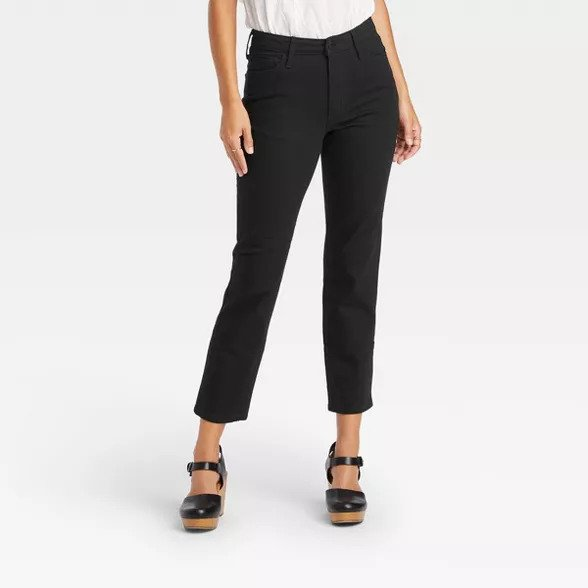 Women's Black cropped jeans from Target